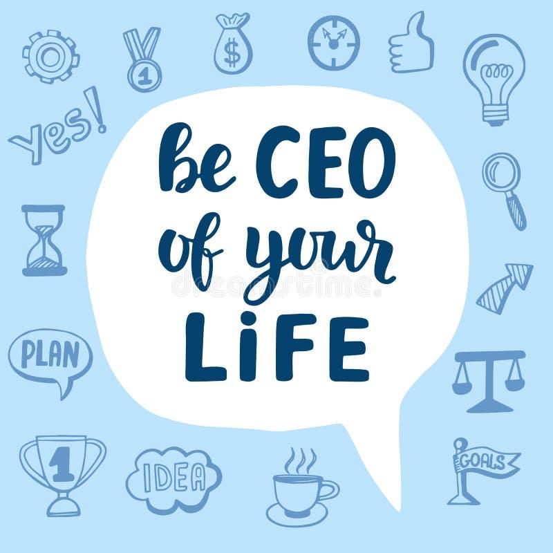 Ben CEO van Uw Leven stock illustratie