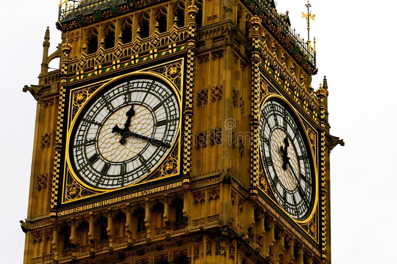 Ben Clock Face Close Up grande imagens de stock royalty free