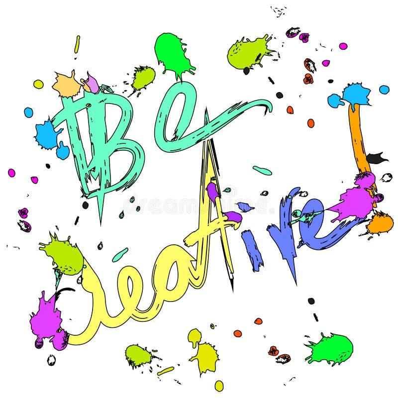 Ben creatieve kleurrijke Groetkaart royalty-vrije illustratie