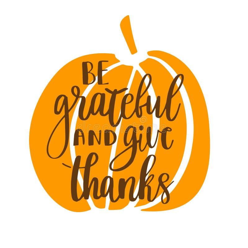 Ben dankbaar en geef dank vector illustratie