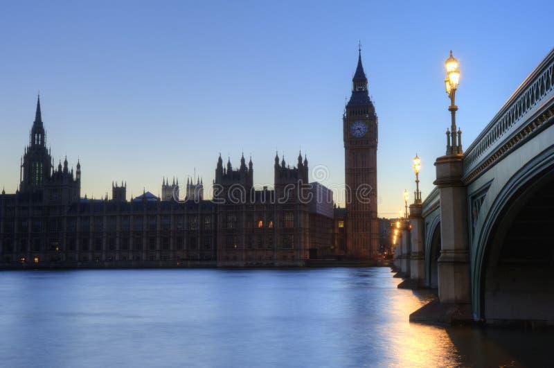 ben duży London noc parlamentu linia horyzontu zdjęcia stock