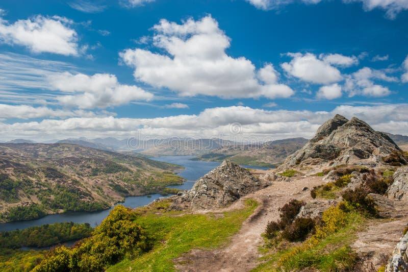 Ben A'an e Loch Katrine fotos de stock