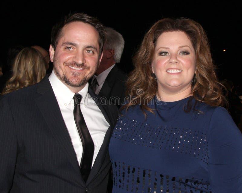 Ben Falcone ; La mélisse McCarthy obtient au gala 2012 international de festival de film de Palm Spring image libre de droits