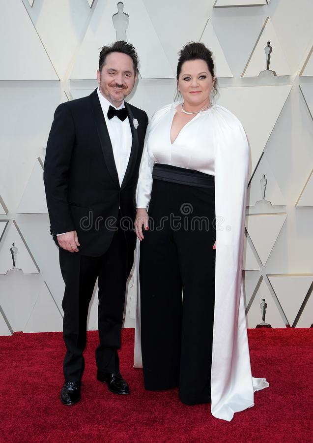 Ben Falcone and Melissa McCarthy stock image