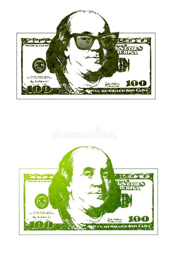 Ben Frais Franklin 100 Billets D Un Dollar Photographie stock libre de droits