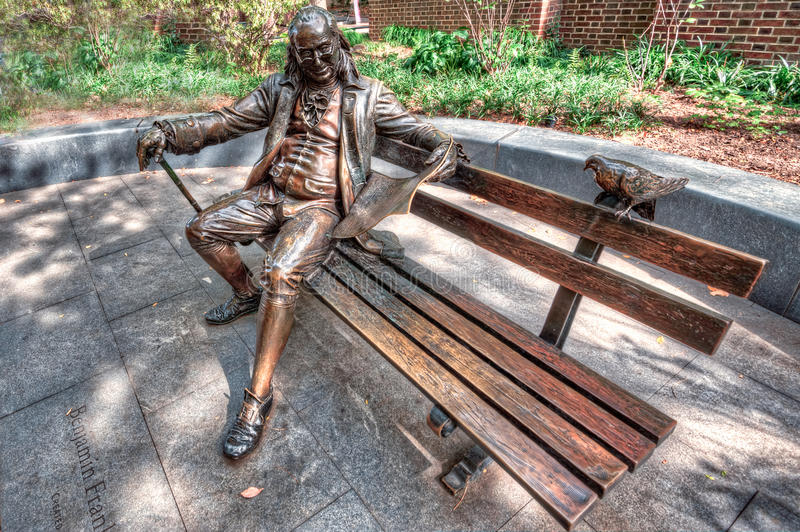 Download Ben Franklin on a Bench stock photo. Image of penn, paper - 27651082