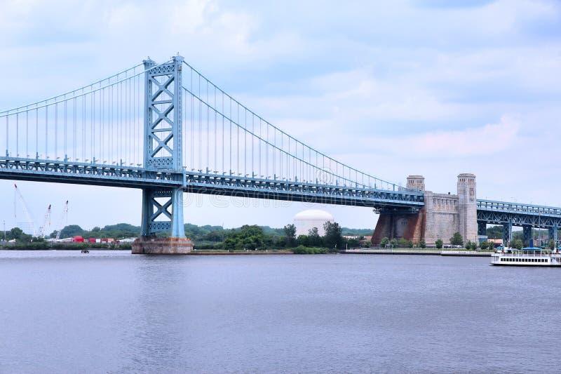 Ben Franklin-Brücke, Philadelphia stockfotografie