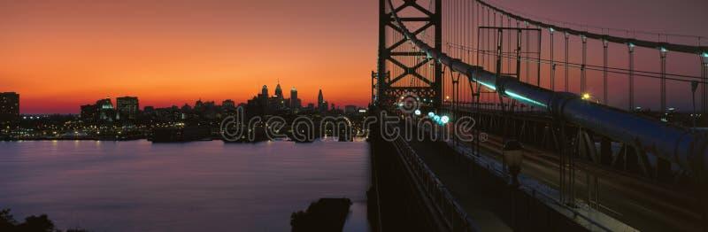 Ben Franklin Bridge Editorial Stock Photo