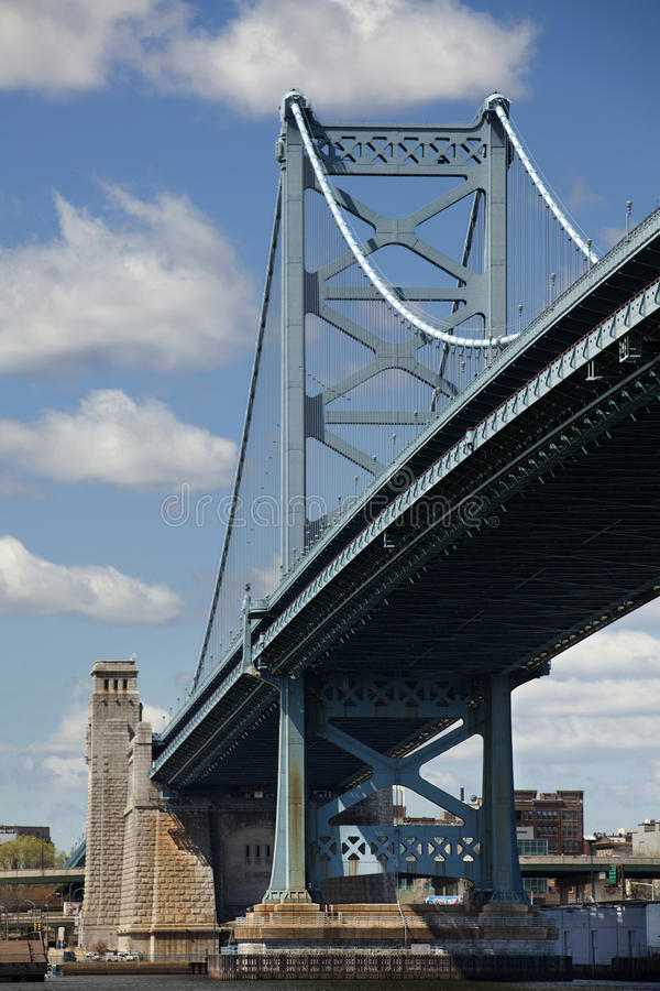 Download Ben Franklin Bridge stock photo. Image of blue, tall - 24234106