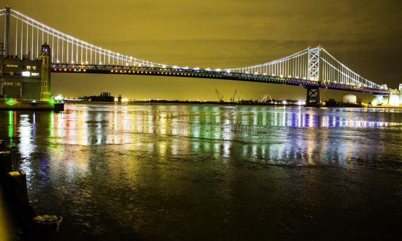 Ben Franklin Bridge royalty-vrije stock fotografie