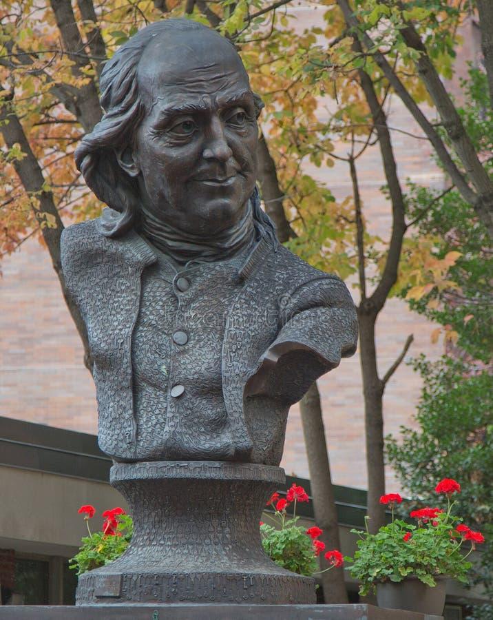Ben Franklin Bust stock afbeeldingen