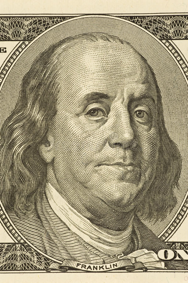 Free Ben Franklin Close-up Royalty Free Stock Photography - 53475087