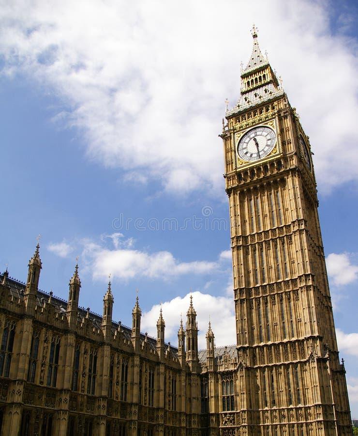 Ben grande do palácio de Westminster, Londres, Reino Unido imagem de stock