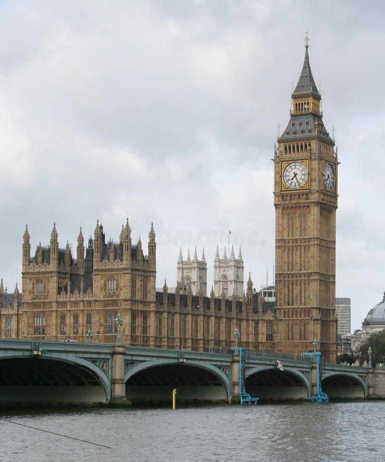 Ben grande e ponte de westminster imagem de stock