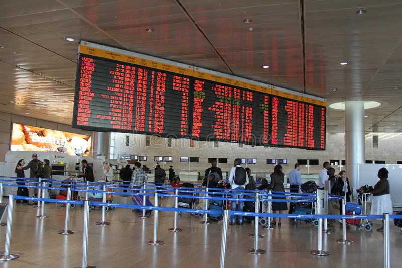 Download Ben Gurion Airport. Tel Aviv Editorial Stock Image - Image of hall, travel: 22630154