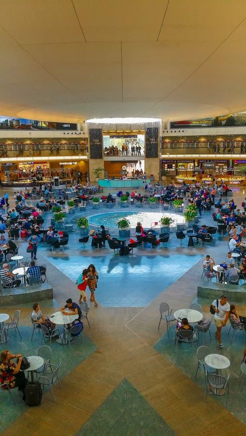 Ben Gurion Terminal 3, Tel Aviv, Israël stock foto