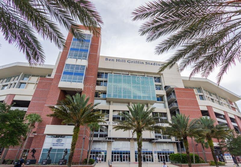 Ben Hill Griffin Stadium bij de Universiteit van Florida royalty-vrije stock afbeeldingen
