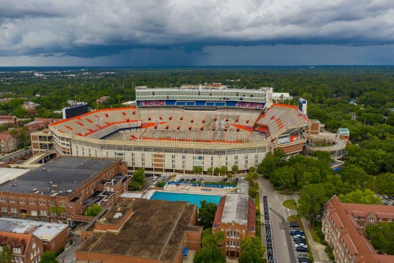 Ben Hill Griffin Stadium University aérien de la Floride Gainesville image stock