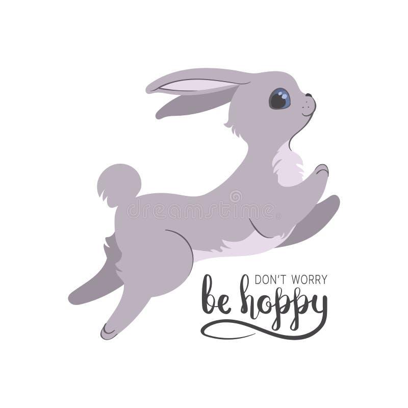 Ben hoppy konijntjeskaart royalty-vrije illustratie
