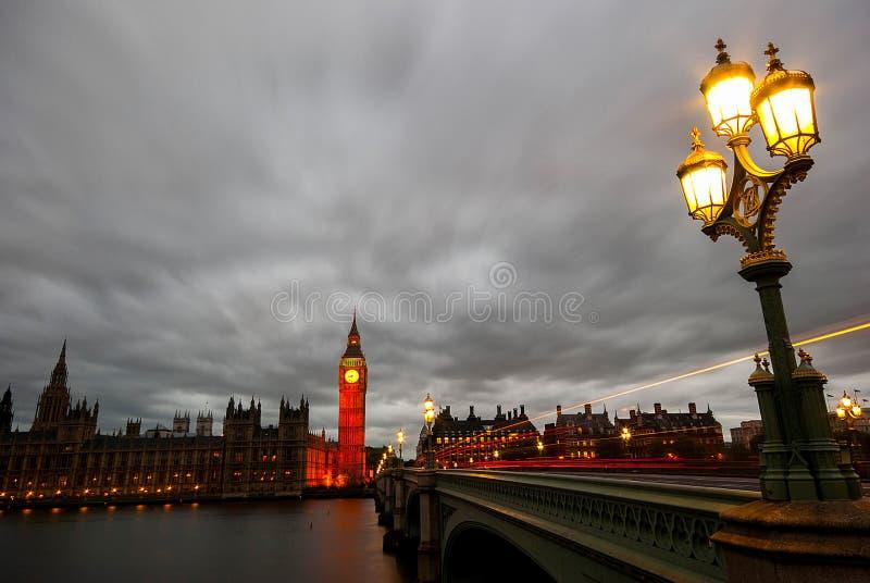 ben houses den stora skymningen parlamentet fotografering för bildbyråer