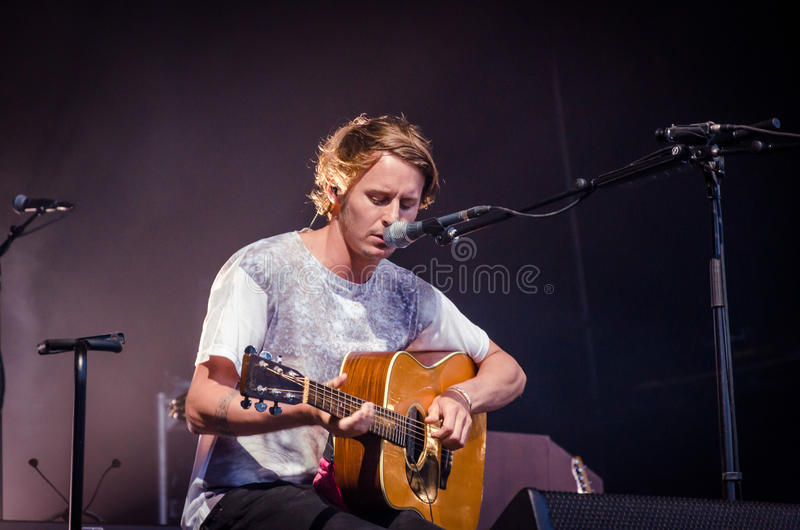 Ben Howard. Performing at Longitude Festival 2014 in Dublin, Ireland royalty free stock photos