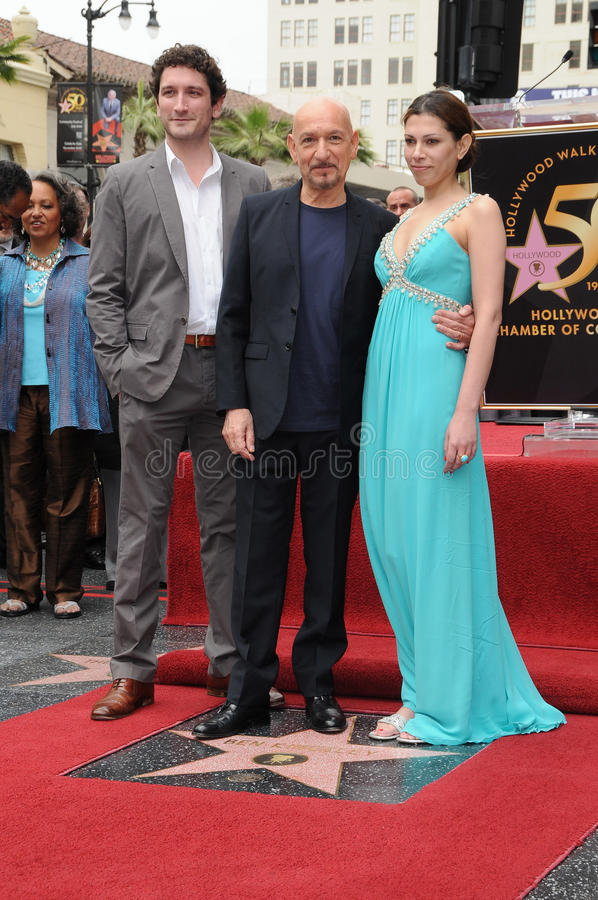 Ben Kingsley, Daniela Lavender royalty-vrije stock foto's