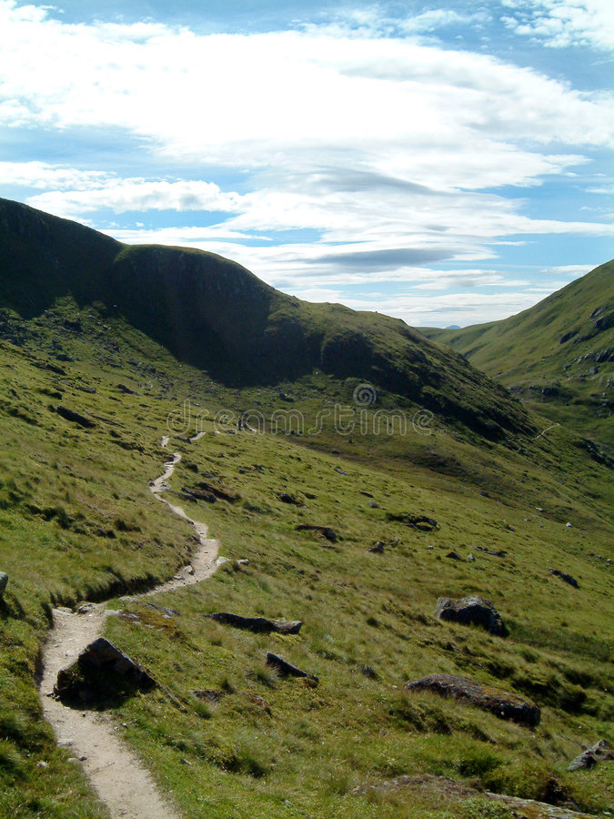 Ben Lawers Path. Footpath on Ben Lawers, Scotland royalty free stock photos