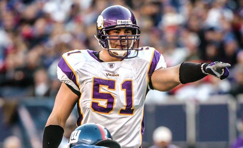 Ben Leber, Minnesota Vikings libra fotografia de stock royalty free