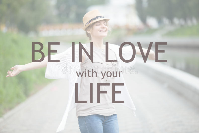 Ben in liefde met uw leven royalty-vrije stock afbeeldingen