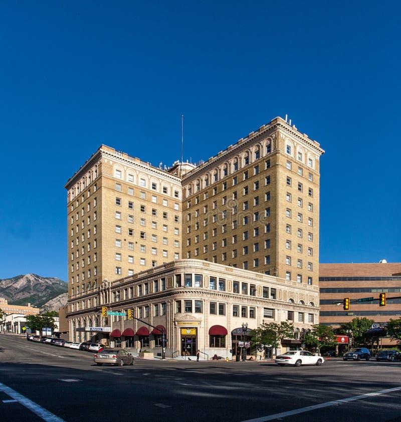 Ben lomond hotell i Ogden Utah arkivbild