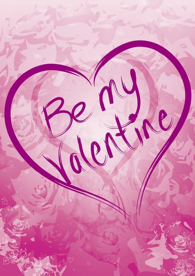 Ben Mijn Valentijnskaart royalty-vrije illustratie