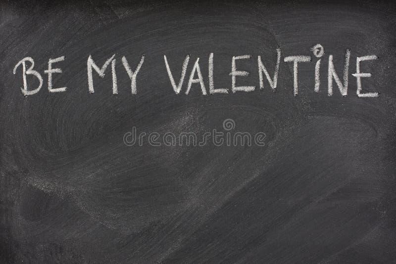 Ben mijn Valentijnskaart op een bord stock foto
