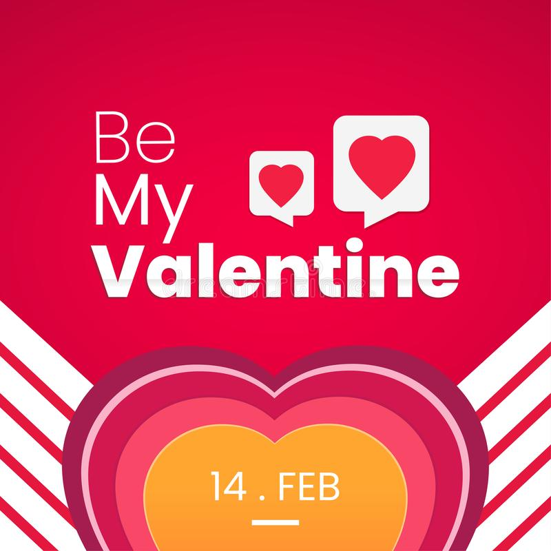 Ben Mijn Valentine, de achtergrond van het liefdeconceptontwerp stock afbeelding