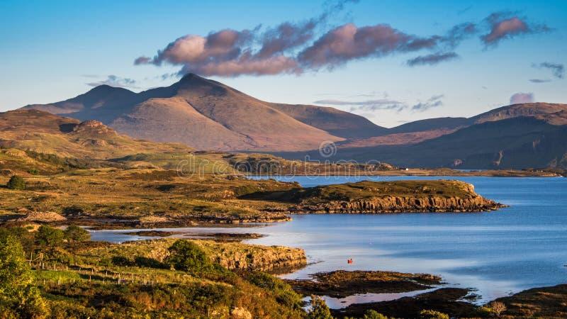Ben More på ön av Mull i Skottland arkivbilder