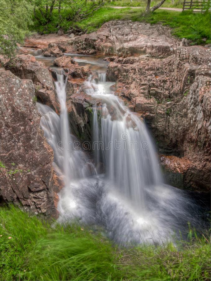 Ben Nevis Falls, near Fort William, Scotland, UK. Water fall near Ben Nevis, Fort William, Scotland, UK royalty free stock images