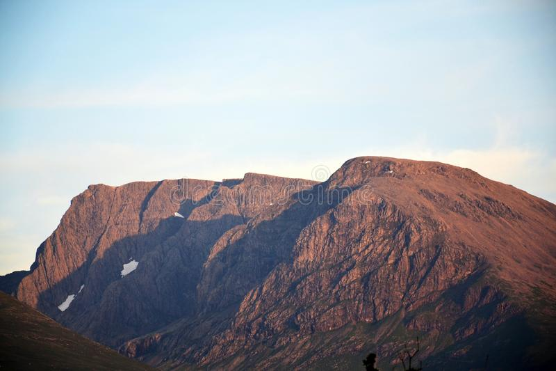 Ben Nevis summit, the highest mountain in the United Kingdom, Highlands, Scotland. Sunny summer day royalty free stock images