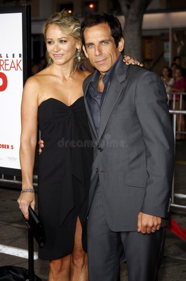 Ben Stiller en Christine Taylor stock afbeelding