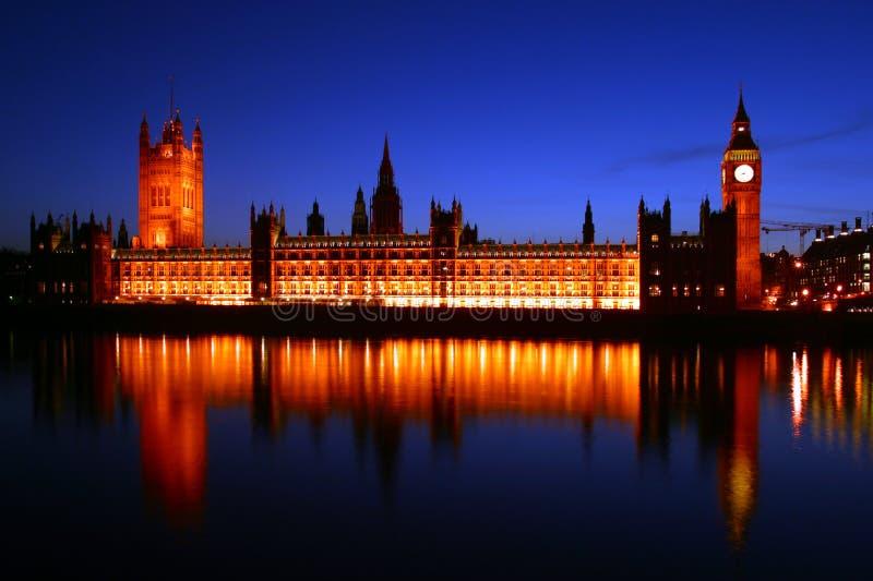 Ben Stor Huslondon Parlament Royaltyfria Foton