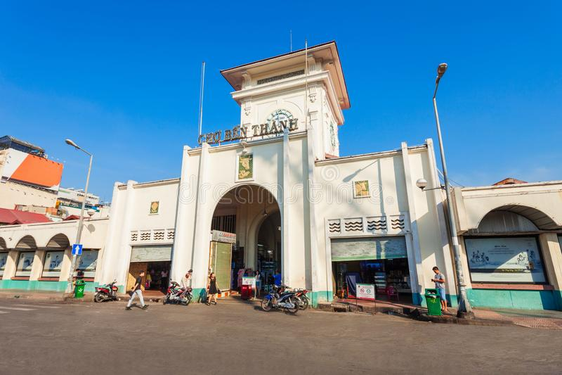 Ben Thanh Market, Ho Chi Minh imagem de stock
