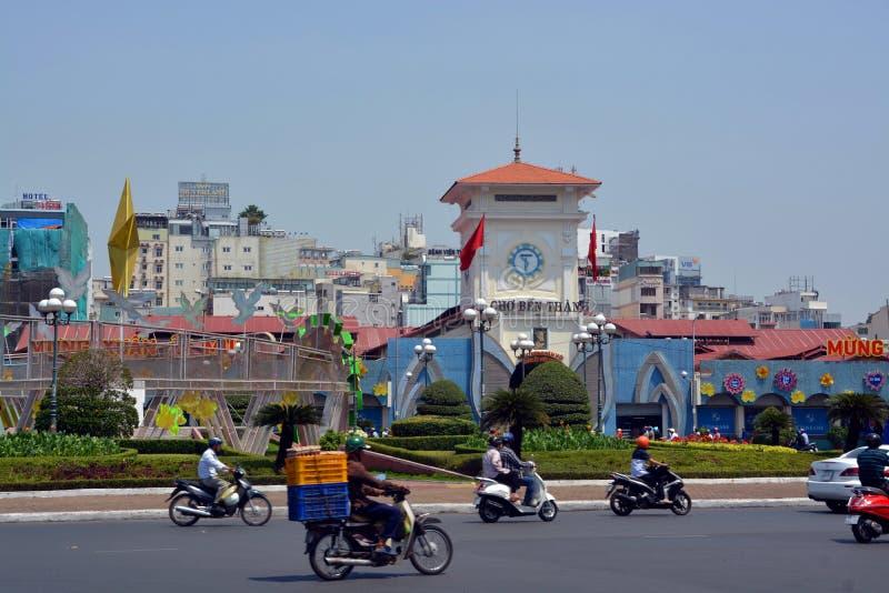 Ben Thanh Market Saigon Vietnam royaltyfri bild