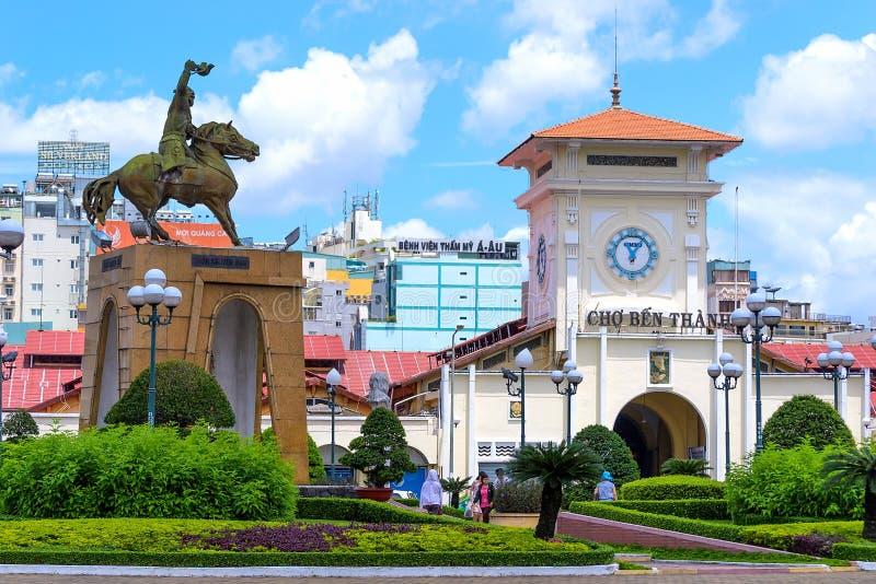 Ben Thanh-markt stock afbeelding