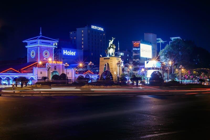 Ben Thanh-markt bij nacht royalty-vrije stock foto's