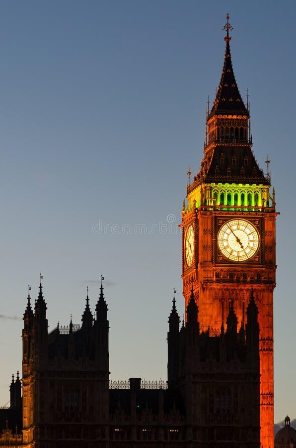 Ben Tower e Westminster grandes (Londres) imagem de stock royalty free