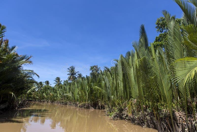 Ben Tre river. Ben Tre is south west province of Vietnam stock photography