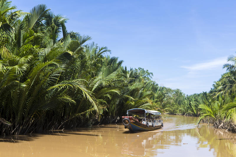 Ben Tre river 2. Ben Tre is south west province of Vietnam royalty free stock photography