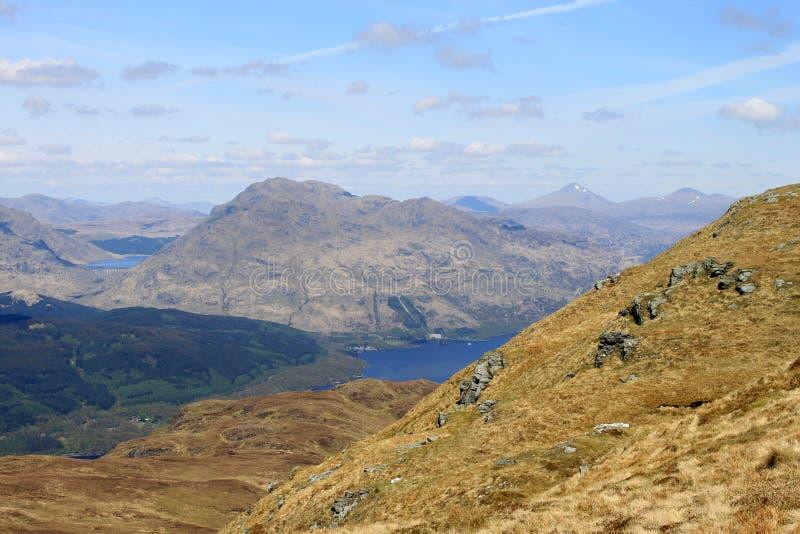 Ben Vorlich, Loch Sloy i Loch Lomond, Szkocja zdjęcia royalty free