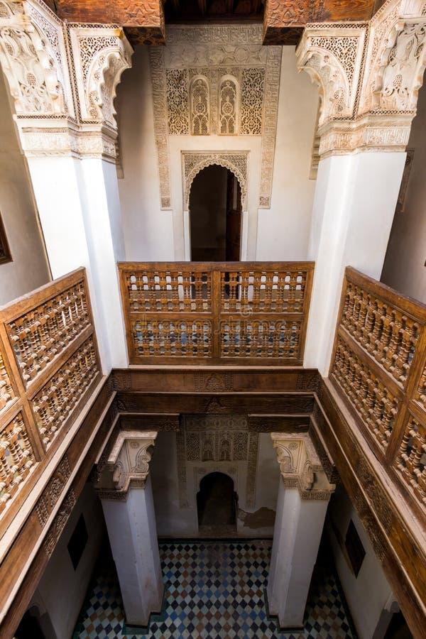 Ben Youssef Madrasa Marrakesh imagem de stock