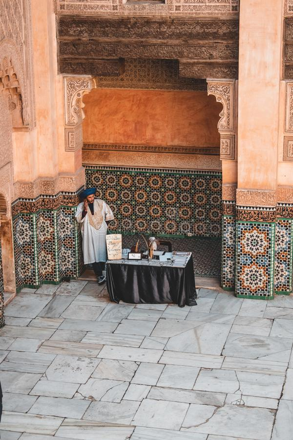 Ben Youssef Madrasa a Marrakesh, Marocco immagine stock
