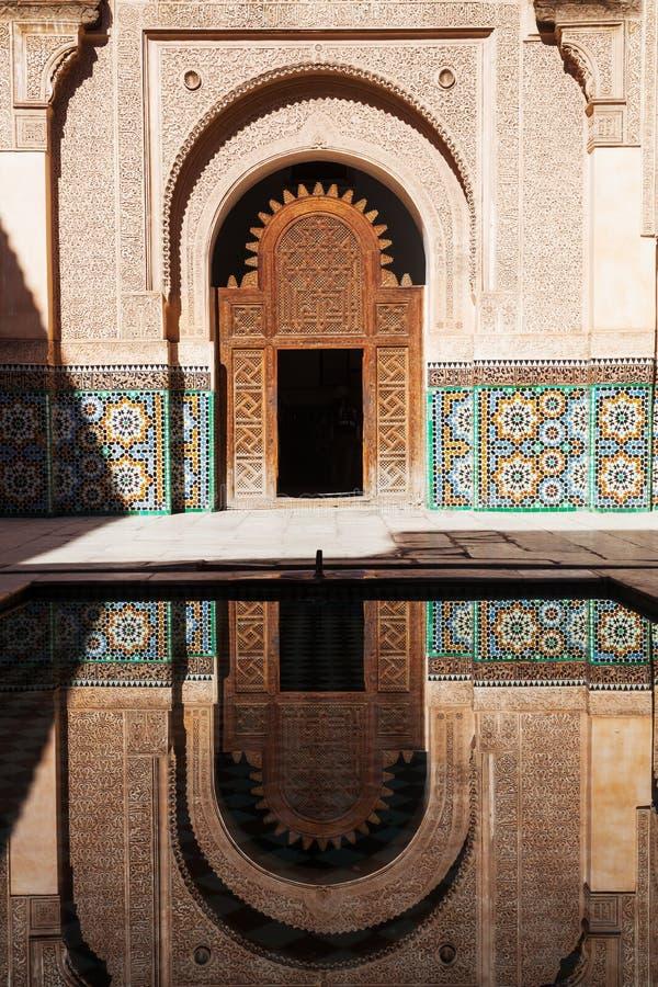 Ben Youssef Medersa w Marrakesh zdjęcia royalty free