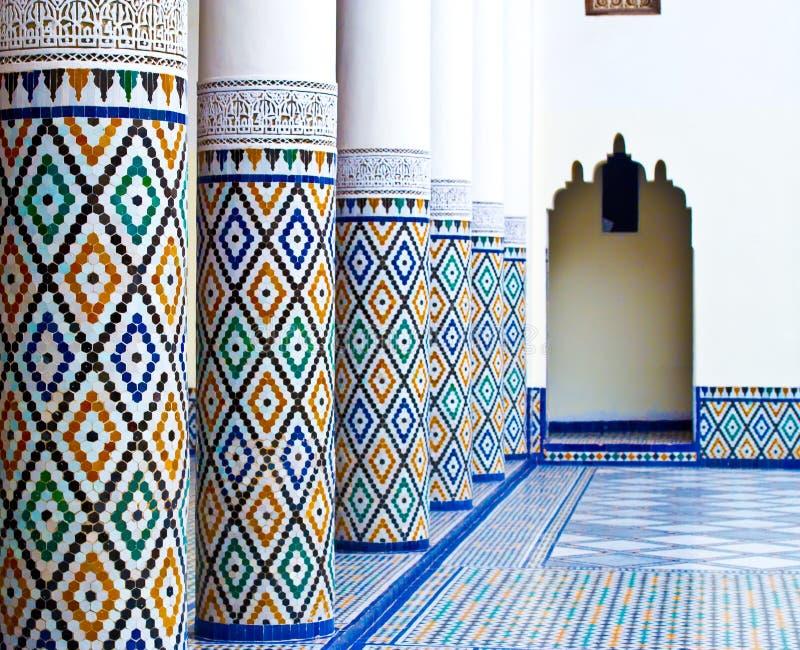 Ben Youssef Medrassa en Marrakesh fotografía de archivo